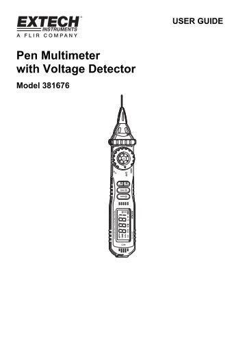 Pen Multimeter with Voltage Detector - Extech Instruments