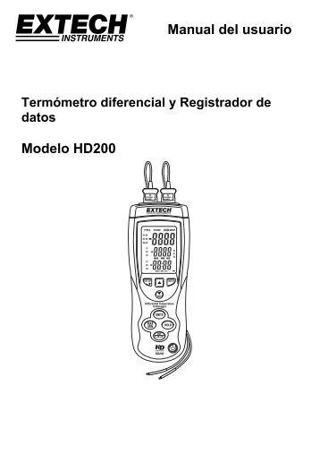 Manual del usuario Modelo HD200 - Extech Instruments