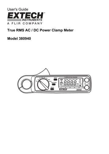 EXTECH 380940 Manual - Extech Instruments