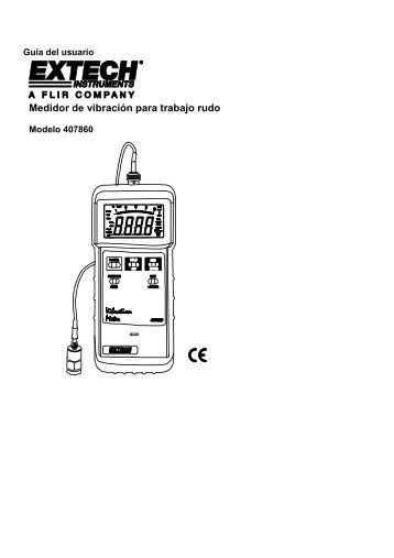 Medidor de vibración para trabajo rudo - Extech Instruments