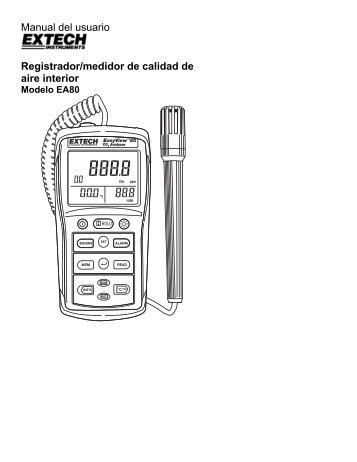 Manual del usuario Registrador/medidor de calidad de aire interior