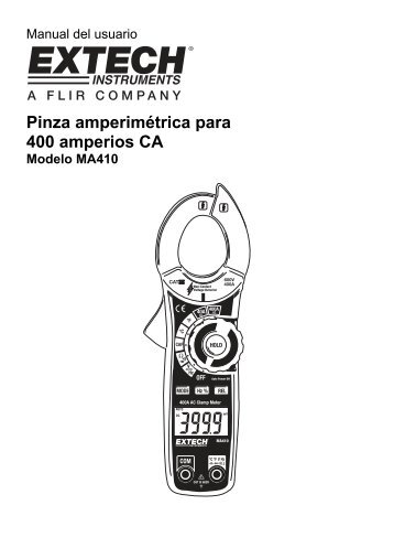 Pinza amperimétrica para 400 amperios CA - Extech Instruments