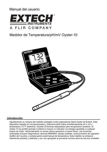Manual del usuario Medidor de Temperatura/pH/mV Oyster-10