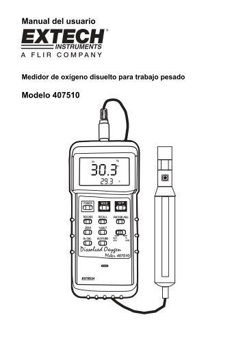 Manual del usuario Modelo 407510 - Extech Instruments