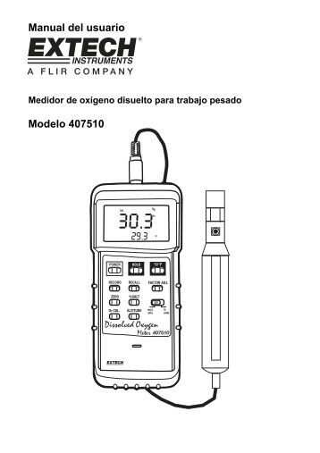 Manual del usuario Modelo 407510 - Extech Instruments
