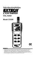 Gebruikershandleiding CO2 meter Model CO250 - Extech Instruments