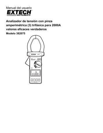 Manual del usuario Analizador de tensión con pinza amperimétrica (3)