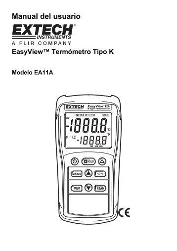 Manual del usuario - Extech Instruments