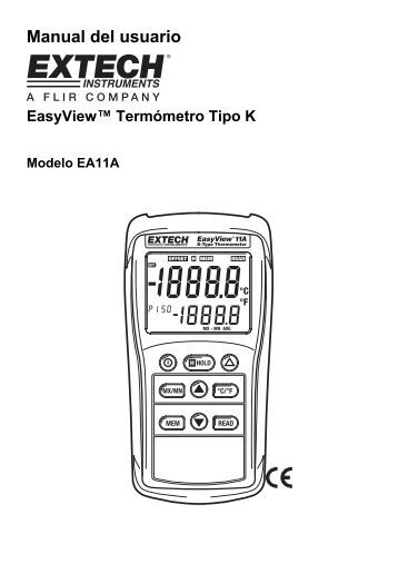 Manual del usuario - Extech Instruments