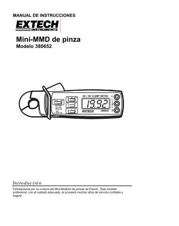 Mini-MMD de pinza - Extech Instruments