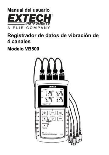 Registrador de datos de vibración de 4 canales - Extech Instruments