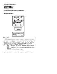 Guide d'utilisation Testeur de Résistance de Masse Modèle 382152