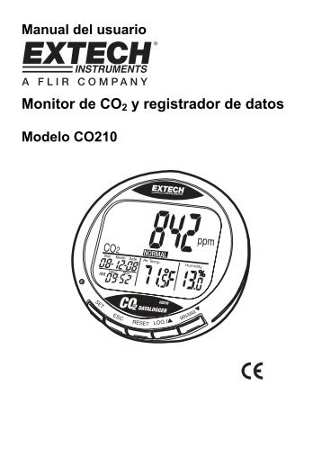Monitor de CO2 y registrador de datos - Extech Instruments