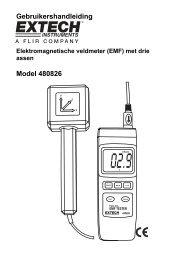 Gebruikershandleiding Model 480826 - Extech Instruments