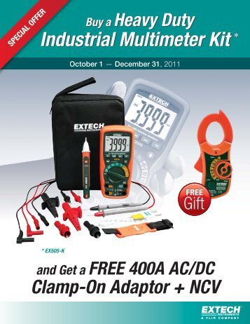 Buy a Heavy Duty Industrial Multimeter Kit - Extech Instruments