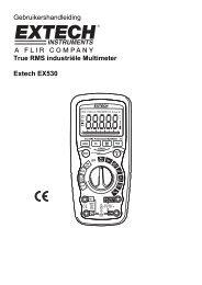 Gebruikershandleiding True RMS industriële Multimeter Extech EX530