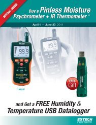 Buy a Pinless Moisture Psychrometer + IR Thermometer - Extech ...