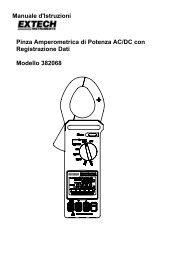 Manuale d'Istruzioni Pinza Amperometrica di Potenza AC/DC con ...