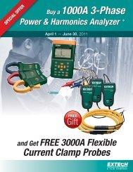 Buy a 1000A 3-Phase Power & Harmonics Analyzer - Extech ...
