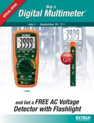 and Get a FREE AC Voltage Detector with Flashlight - Extech ...