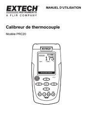 Calibreur de thermocouple - Extech Instruments