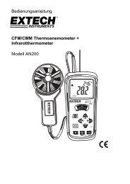 Bedienungsanleitung - Extech Instruments