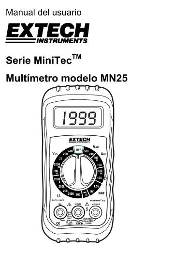 Serie MiniTecTM Multímetro modelo MN25 - Extech Instruments