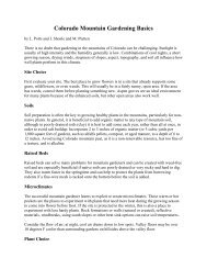 Colorado Mountain Gardening Basics - Colorado State University ...