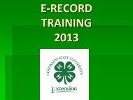 2013 E-Record Traini.. - Colorado State University Extension