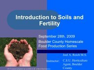 Intro to Soils and Fertility - Colorado State University Extension