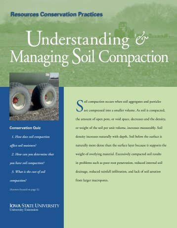Understanding & Managing Soil Compaction - Iowa State University ...