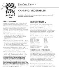 Canning Vegetables - Iowa State University Extension and Outreach