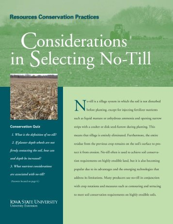 Considerations in Selecting No-Till - Iowa State University Extension ...