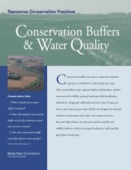 Conservation Buffers and Water Quality - Iowa State University ...