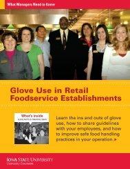 Glove Use in Retail Foodservice Establishments - Iowa State ...