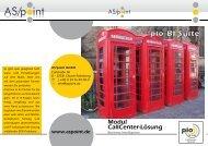 Modul Callcenter-Lösung Business Intelligence pio Bi-Suite - As/point