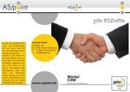 Modul CRM Business Intelligence pio Bi-Suite - As/point