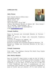 Rev. Eduardo Carlos de Oliveira Cobra - Secretaria Executiva da IPB