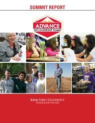 SUMMIT REPORT - Iowa State University Extension and Outreach