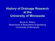 History Of Drainage Research At The University Of