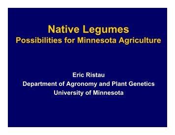 Native Legumes - University of Minnesota Extension Service