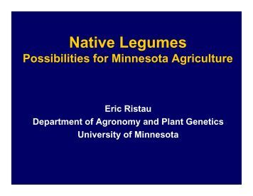 Native Legumes - University of Minnesota Extension Service