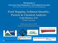 Pond Mapping, Sediment Quantity, Particle & Chemical Analysis