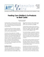 Feeding Corn Distiller's Co-Products to Beef Cattle - South Dakota ...
