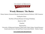 Woody Biomass - University of Minnesota Extension Service