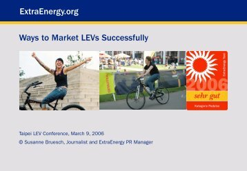 Title ExtraEnergy.org Ways to Market LEVs Successfully