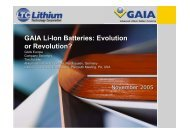 GAIA Li-Ion Batteries: Evolution or Revolution? - ExtraEnergy.org