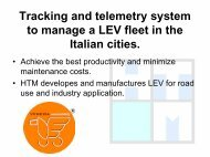 Tracking and telemetry system to manage a LEV ... - ExtraEnergy.org