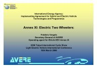 Annex XI: Electric Two Wheelers: - ExtraEnergy.org