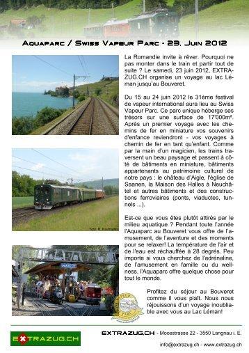 Aquaparc / Swiss Vapeur Parc Aquaparc / Swiss Vapeur Parc - 23 ...